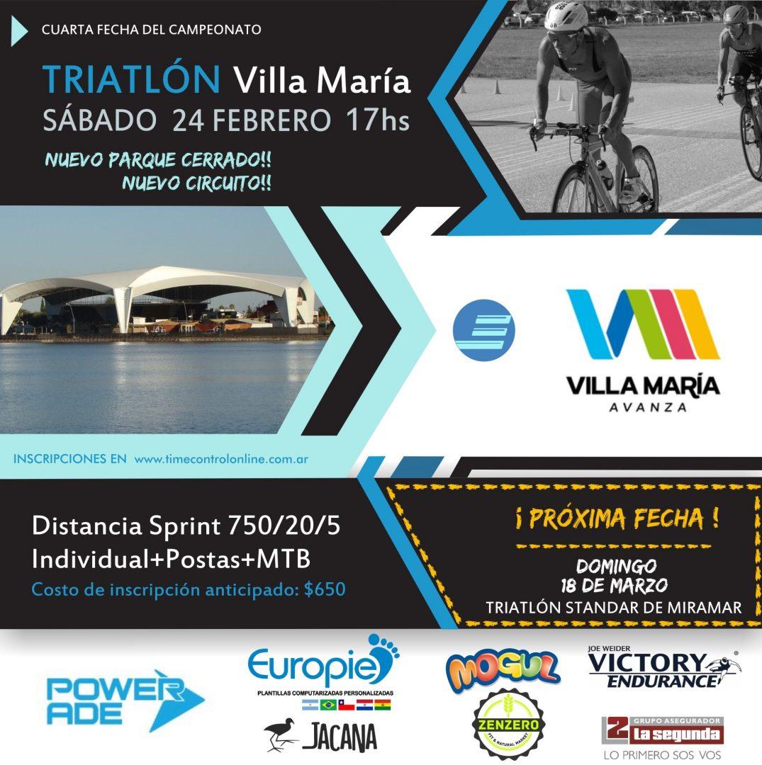 Resultados Triatlón Villa María 2018