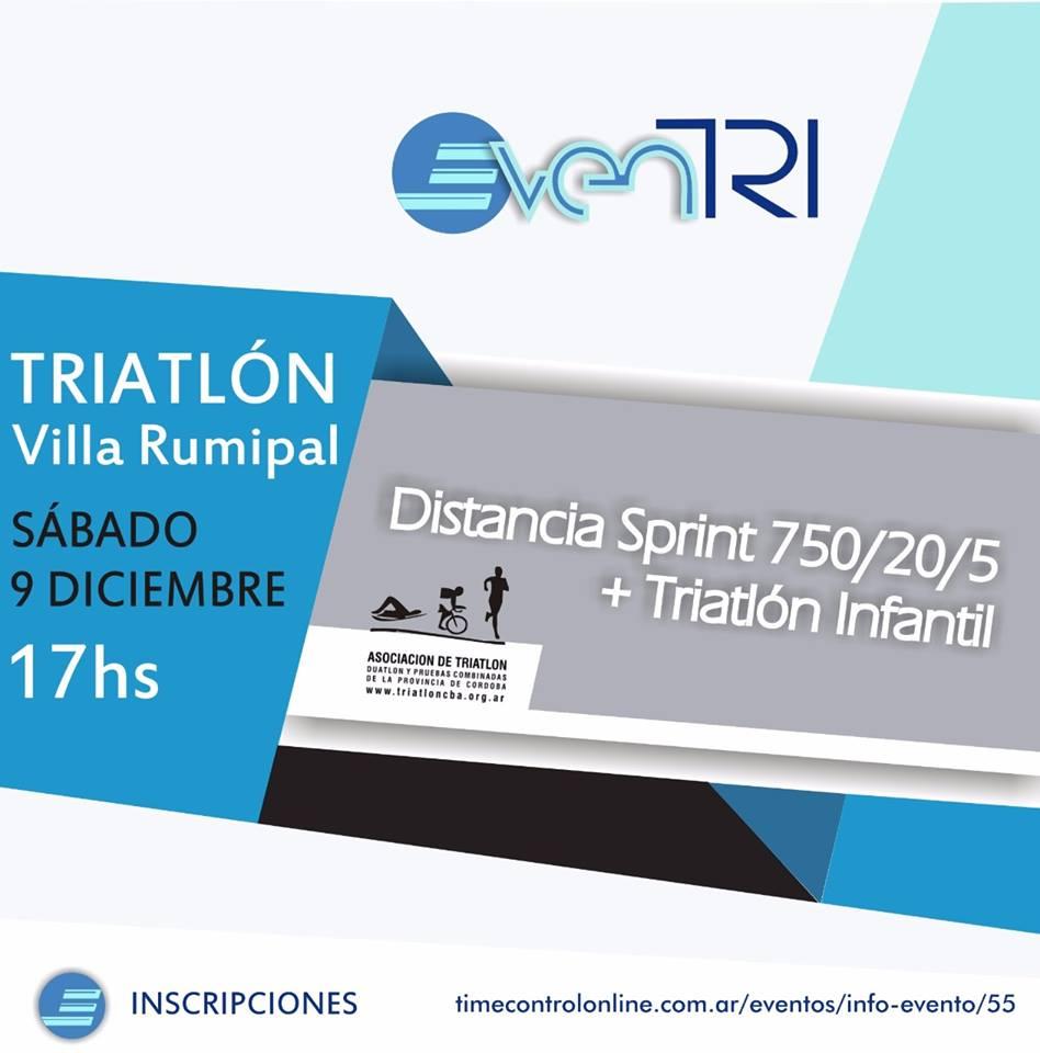 Resultados Triatlón Villa Rumipal 2017