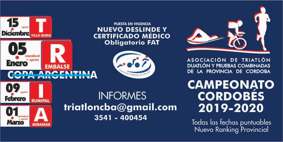 Campeonato Cordobés de Triatlón 2019/2020